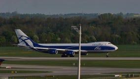 AirBridgeCargo plane taking off. AirBridgeCargo taking off from Munich Airport MUC stock footage