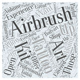 Airbrush Art Tattoo Kits word cloud concept Stock Photos