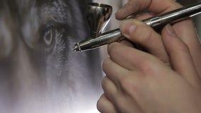 Airbrush farby Rysować obrazki aerography małe części zdjęcie wideo