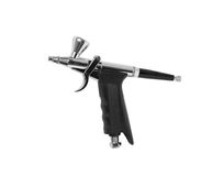Airbrush gun on white background Stock Images