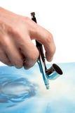 Airbrush in hand Stock Photo