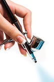 Airbrush in hand Stock Photography