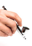 Airbrush in hand Royalty Free Stock Photos