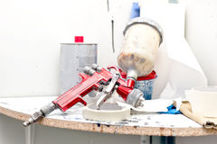 Airbrush or paint spray gun for painting cars Stock Photo