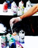 Airbrush painting Stock Image