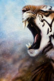 Airbrush painting tiger head Stock Images