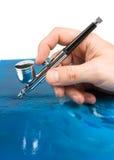 airbrush ręka Obraz Royalty Free