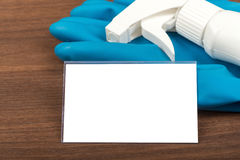 Airbrush with rubber gloves Stock Photo