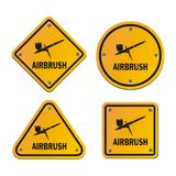 Airbrush signs - road signs Stock Image