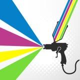 Airbrush or spray gun vector Stock Photo