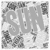 Airbrush tanning 34 word cloud concept  background Royalty Free Stock Photos