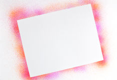 Airbrushed orange magenta border Stock Photography