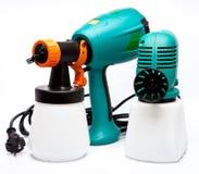 2 airbrushes различных конструкции электрических для колорита для размельчения цвета Стоковые Фотографии RF
