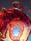 Airbubbles vermelho estranho Fotografia de Stock Royalty Free