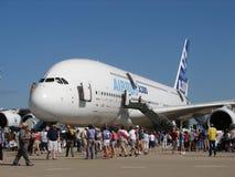Airbus énorme A380 superbe photographie stock libre de droits