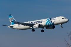 Airbus αέρα της Αιγύπτου A320 Στοκ φωτογραφία με δικαίωμα ελεύθερης χρήσης