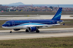 Airbus αερογραμμών του Αζερμπαϊτζάν A320 Στοκ Εικόνες