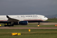 Airbus αμερικανικών εναέριων διαδρόμων A330 Στοκ εικόνα με δικαίωμα ελεύθερης χρήσης
