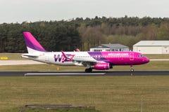 Airbus A320-232 από WizzAir Στοκ φωτογραφία με δικαίωμα ελεύθερης χρήσης