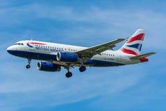 Airbus A319-100 γ-DBCH της British Airways αεροπλάνων Στοκ Φωτογραφία