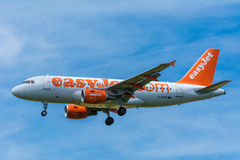 Airbus γ-EZFR A319-100 αεροπλάνων easyJet Στοκ φωτογραφίες με δικαίωμα ελεύθερης χρήσης