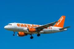 Airbus γ-EZIT A319-100 αεροπλάνων easyJet Στοκ φωτογραφίες με δικαίωμα ελεύθερης χρήσης