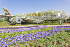 Airbus εμιράτων στον κήπο θαύματος στο Ντουμπάι Στοκ εικόνα με δικαίωμα ελεύθερης χρήσης