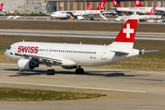 a320 airbus Ελβετός Στοκ Φωτογραφία