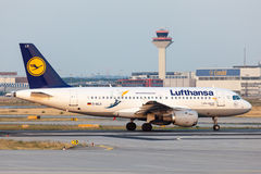 Airbus A319-100 της αερογραμμής της Lufthansa Στοκ Φωτογραφία