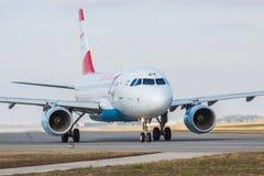 Airbus A319-112 της Austrian Airlines Στοκ Εικόνα