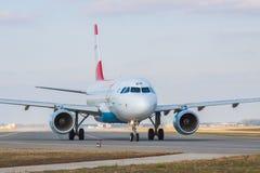 Airbus A319-112 της Austrian Airlines Στοκ Εικόνες