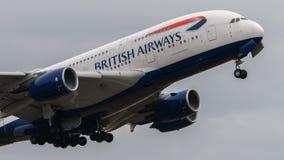 Airbus της British Airways A380 στοκ φωτογραφία με δικαίωμα ελεύθερης χρήσης