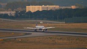 Airbus 320 της Lufthansa που φρενάρει απόθεμα βίντεο