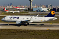 Airbus της Lufthansa A320 Στοκ Φωτογραφία