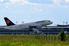 Airbus της Lufthansa A319 Στοκ φωτογραφίες με δικαίωμα ελεύθερης χρήσης