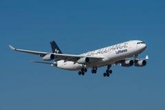 Airbus της Lufthansa CityLine A340 Στοκ Εικόνες