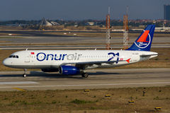 Airbus της Onur Air A320 Στοκ φωτογραφίες με δικαίωμα ελεύθερης χρήσης