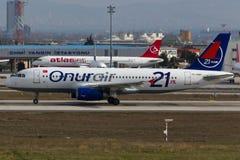 Airbus της Onur Air A320 Στοκ εικόνα με δικαίωμα ελεύθερης χρήσης