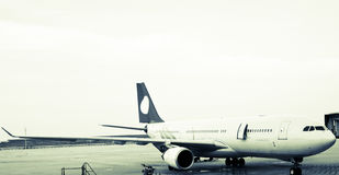 Airbus. Airplane is waiting for departure in pudong airport shanghai china royalty free stock photos