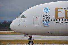 Airbus εμιράτων A380 Στοκ Φωτογραφία