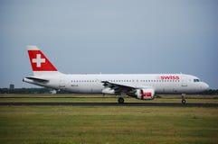 Airbus 320 Swiss Stock Image