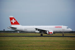 Airbus 320 szwajcarów Obraz Stock