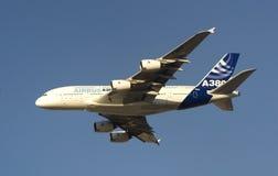 Airbus 380 à Dubaï Images libres de droits