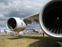 Airbus 380 Fotografía de archivo libre de regalías