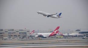 Airbus 380 LAX el 20 de octubre de 2008 Fotografía de archivo libre de regalías