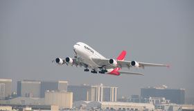 Airbus 380 LAX el 20 de octubre de 2008 Tak apagado Imagen de archivo libre de regalías