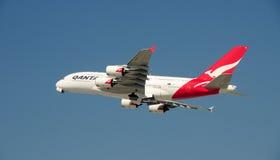 Airbus 380 LOCKERES 20. Oktober 2008 entfernen sich Stockfotografie