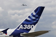 Airbus 380 in paris air show Stock Images