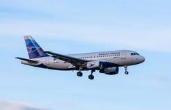 Airbus A319 Fotos de archivo libres de regalías