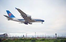 Airbus A380 Fotos de archivo libres de regalías